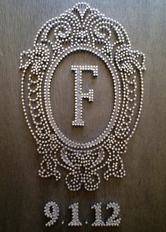 string art wedding decorations | Large Custom Nail & String Art | Craft Ideas