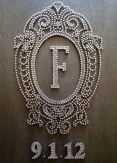 string art wedding decorations | Large Custom Nail & String Art | Craft Ideas