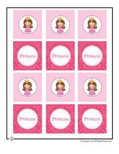 Cute Princess Party Printable Table Decorations Printable Cupcake Toppers for a Princess Party – Fantasy Jr.