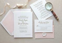 Magnolia Letterpress Wedding Invitation // CHATHAM & CARON letterpress studio // www.chathamandcar... // Letterpress Invitations, Letterpress Wedding Invitations, Classic, Modern, Calligraphy, Wedding Invitations, Elegant, Monogram Invitation, Script, Pretty, Timeless, Affordable, Calligraphy, Vintage