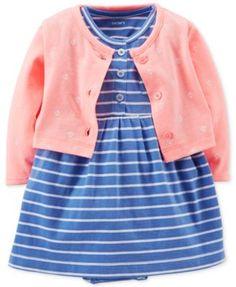 Carter's Baby Girls' 2-Piece Cardigan & Dress Set