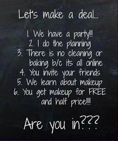 Anyone interested in hosting an online Younique party? You can earn free and half priced make-up and you don't need to leave your house (or clean it!) to have this party! Inbox me for more info if you are interested! https://www.youniqueproducts.com/DeniseDerouen