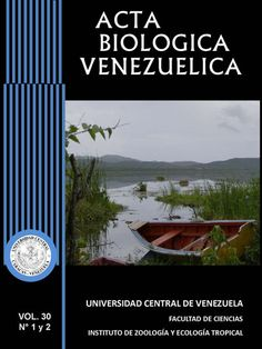 Acta Biológica Venezuelica 2006 - 2010 disponible en Saber UCV http://saber.ucv.ve/ojs/index.php/revista_abv/issue/archive