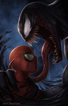 List of the Latest Spider Man vs Venom iPhone Wallpaper – Mobile HD Wallpapers Marvel Comics, Venom Comics, Marvel Venom, Marvel Art, Marvel Heroes, Marvel Avengers, Spiderman Hd, Amazing Spiderman, Joker Iphone Wallpaper