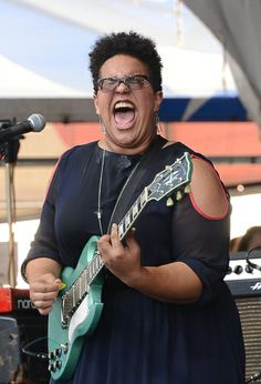 Brittany Howard of Alabama Shakes performs during the New Orleans jazz fest 2014