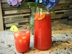Watermelon Cucumber Crush Save Print Author: Mary and Molly Ingredients 1 quart Watermelon Juice 2 cups Cucumber Juice 2 Tbsp Lime Juice 2 cups cold filtered water Instructions In a blender, pulse your Watermelon… View Post Cucumber Juice, Summer Drinks, Lime Juice, Vegan Vegetarian, Food To Make, Watermelon, Crushes, Paradise, Recipe
