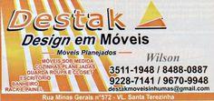 Eu recomendo Destak Móveis- Vila Santa Terezinha, #Inhumas, #Goiás, #Brasil