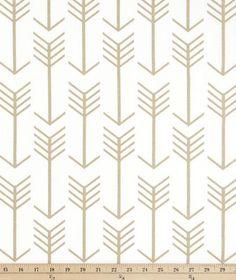 Arrow White Athena Gold by Premier Prints Golden Arrow Fabric