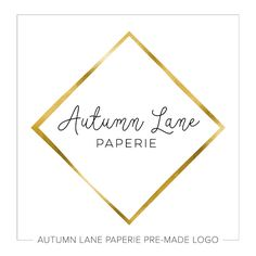 This listing is for a customizable pre-made Handwriting Style Logo in Gold Foil Diamond G50. Put your company's name on it today!