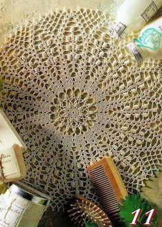 Tecendo Artes em Crochet: Duas toalhinhas lindas com Gráficos