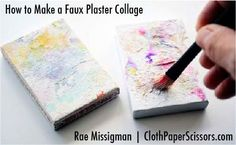 So pretty! A faux plaster collage for mixed-media art | #collage #plaster #art #mixedmedia