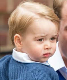 The crowd erupted in cheers for little Prince George. (Getty Images)