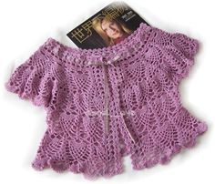 Patrón #693: Bolero Morado a Crochet #ctejidas http://blgs.co/Ocz-9l