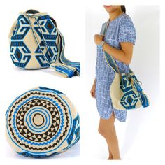 Wayuu Mochila bag Crotchet Bags, Knitted Bags, Love Crochet, Knit Crochet, Mochila Crochet, Tapestry Crochet Patterns, Yarn Bag, Tapestry Bag, Boho Bags