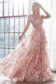 Floral Pattern Mermaid Column Gown Long Slit Elegant Formal 259 mv Dress S M L