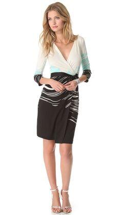 shopbop Diane von Furstenberg New Julian Wrap Dress