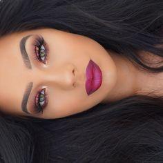 """Make up Details   Lashes @lillyghalichi @lillylashes in Kuwait  Brows @anastasiabeverlyhills Brow Definer in Ebony  Lips @anastasiabeverlyhills Liquid…"""