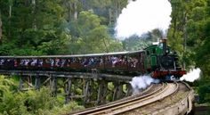 Puffing Billy is Australia's premier preserved steam railway and operates every day (except Christmas Day). The journey aboard Puffing Billy takes you through the magnificent Dandenong Ranges, located only one hour east of Melbourne. Melbourne Trip, Steam Railway, Steam Locomotive, Tour Guide, Tourism, Journey, Australia, Train, How To Plan
