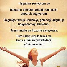 Günaydın... Bu günümüze şükürler olsun.. #gunaydin #goodmorning #huzur #yenigun Positive Mind, Staying Positive, Positive Vibes, Learn Turkish, Reiki Energy, Thing 1, Better Life, Good Vibes, Cool Words