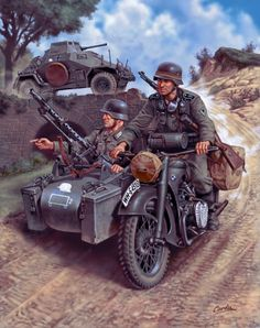 1940 BMW Motorcycle with sidecar