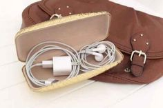 Mission travel tip: Store your cords in a glasses case. No tangles, no mess. We think it's a brilliant idea! What are some of your best travel tips?