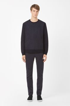 COS | Pinstripe wool sweatshirt