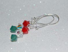 Swarovski Dangle Sparkle Christmas Earrings by YouCanSparkle Christmas Earrings, Christmas Jewelry, Diy Design, Dangles, Swarovski, Sparkle, Hoop Earrings, Jewellery, Unique Jewelry