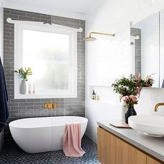 Turn your bathroom into your own personal relaxation oasis. (:@gia_renovations)