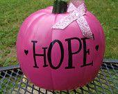 PINK HOPE Pumpkin - Breast Cancer Awareness