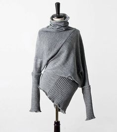 Deconstructed Asymmetrical Grey Sweater Top by Oreut on Etsy, $128.00
