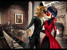 Miraculous Ladybug - Speededit: Prince Chat and Princess Ladybug Kissing - YouTube