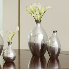 "Global Views aluminum vases Sm 6"", Med 7.75"", Lg 10.75""  $19- $59"