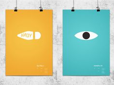 these pixar posters from by Gallery Wonchan found via House of C... these pillows at anouk bazaar ... having Roos from Broer