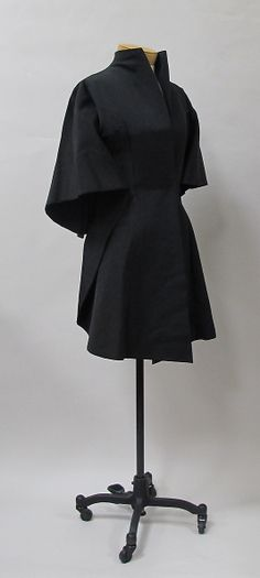 Evening jacket Charles James (American, born Great Britain, 1906–1978)  Date: 1937–38 Culture: American. Front sideway