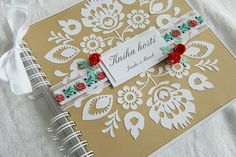 Ľudová kniha hostí Folk, Scrapbook, Diaries, Albums, Handmade, Notes, Wedding, Valentines Day Weddings, Hand Made