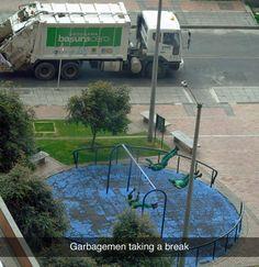 Garbagemen like this: