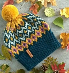 New Knitting Hat Colorwork Colour 45 Ideas Fair Isle Knitting, Loom Knitting, Baby Knitting, Knitting Patterns Free Dog, Knit Patterns, Crochet Yarn, Yarn Crafts, Knitting Projects, Knitted Hats
