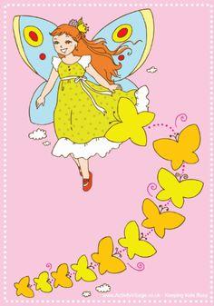 Fairy reward chart with butterflies