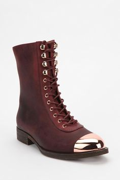 Jeffrey Campbell Zorro Metal Tip Lace-Up Boot Online Only New Colors Available