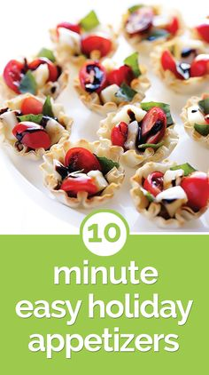 10-Minute Easy Holiday Appetizer Recipes - thegoodstuff