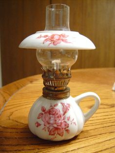 Antique Glass Oil Lamp - Etsy