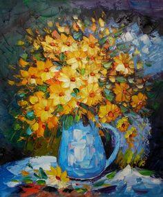 Yellow Daisies I Canvas Wall Art