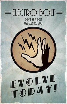Bioshock Inspired Vintage Poster Electro Bolt by ThePixelEmpire