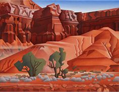 Red Reef Dirt by David Jonason Oil ~ 16 inches x 20 inches