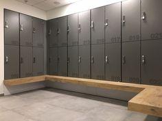 Phenolic lockers, hpl lockers, lockers for wet area — ATEPAA® Office Lockers, Used Lockers, Spa Interior Design, Gym Interior, Industrial Lockers, Locker Designs, Bar Designs, Toilette Design, Restroom Design