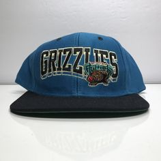 Memphis Grizzlies Snapback Hat Adidas Hardwood Classics Vintage NBA