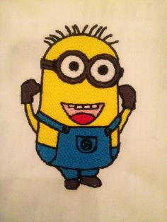 Photo of Happy Minion Instant Download Digital Embroidery design