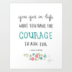 Yes. :: Oprah Winfrey quote Art Print by Marloes De Vries