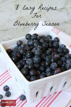 8 Easy Recipes for Blueberry Season from MomAdvice.com.