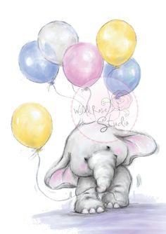 Wild Rose Studio - Bella with Balloons - bjl